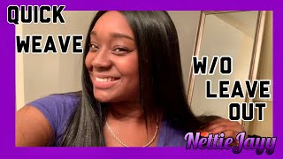 Quick Weave W/O Leave Out| Using The Purple Pack Brazilian Boutique