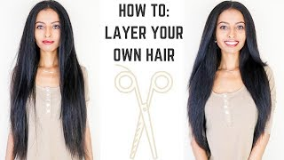 HOW TO: Cut Layers In Long Hair | EASY DIY Tutorial | KayNaturals