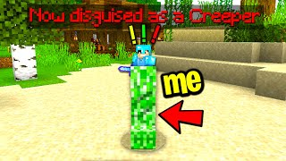Trolling my new minecraft friend with a disguise plugin