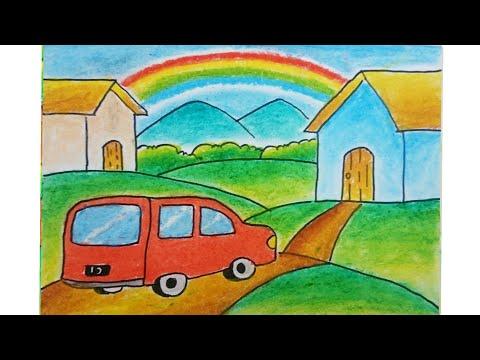 Gambar Menggambar Rumah Untuk Anak Tk Dengan Pemandangan Classy World