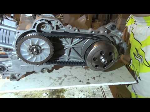 (Своими руками)сборка вариатора и сцепления на скутере 139 qmb