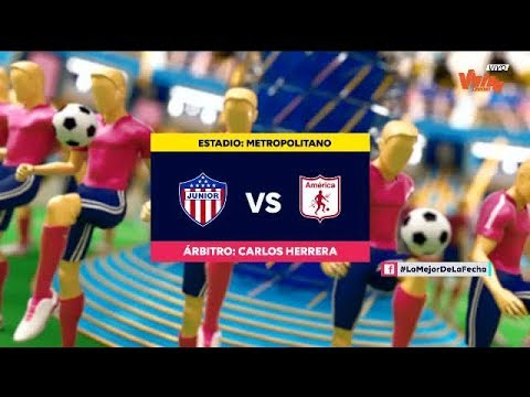 Junior vs. America (highlights) | Liga Aguila 2019-II | Final ida