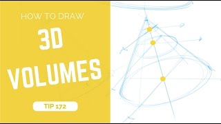 How to draw simple 3d volumes - Sketching tutorial