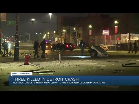 3 killed in multi vehicle crash in Detroit