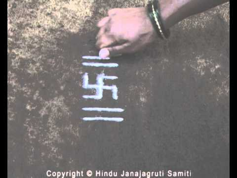 Science behind drawing of rangoli