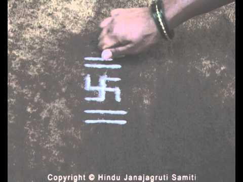Science behind drawing of rangoli