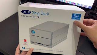 LaCie 2big Dock 8TB Thunderbolt 3 RAID Storage Drive - Unboxing & Set-up [4K]