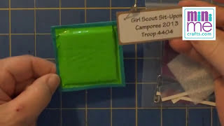 Girl Scout Sit-Upon SWAP Or Craft Kit DIY How To Video Tutorial