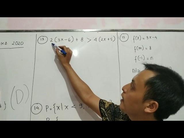 NO 11 - 15 PAKET 3 SIMULASI UNBK MATEMATIKA SMP 2020 XPRESS