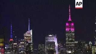 Empire State turns pink for Women's Day