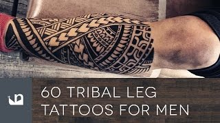 60 Tribal Leg Tattoos For Men