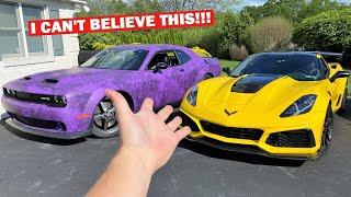 RACING My 1,000HP Hellcat VS My 1,000HP ZR1!!! *SUPER CLOSE*