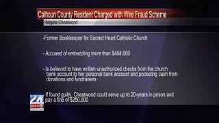 Former Church and School Bookkeeper Charged with Wire Fraud Scheme