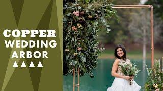 DIY Copper Wedding Arbor - Wedding Decor Ideas - HGTV Handmade