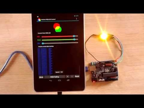 Video of Arduino USB Control RGB LED