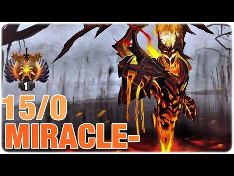 Miracle- Immortal Mid SF 15/0 Road to TOP 1 - Dota 2 Pro MMR Gameplay