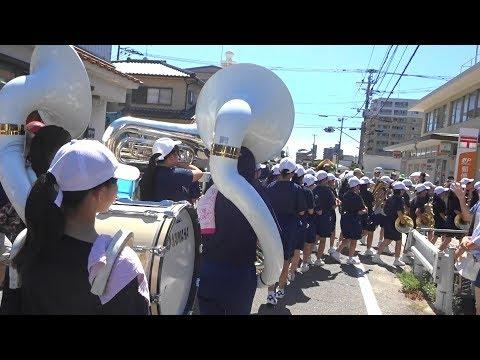 2018篠栗祇園夏まつり 篠栗中学校吹奏楽部 パレード「動画」