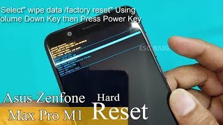 New Asus Zenfone Max Pro M1- Hard Reset || Pattern Unlock ||Factory Reset