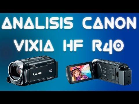 Análisis - Videocamara - CANON - Vixia HF R40 - Español