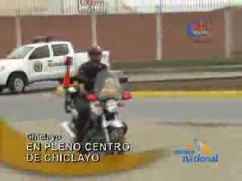 Lambayeque: Robo a mano armada en pleno centro de Chiclayo