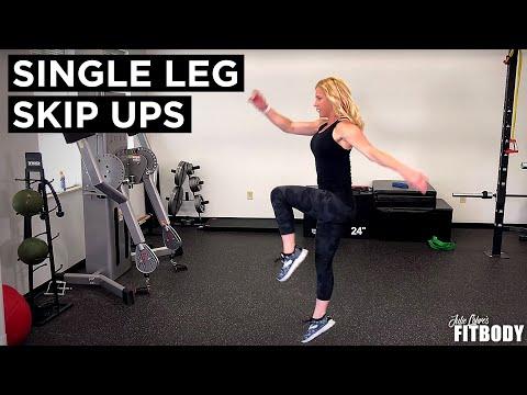Single Leg Skip Ups