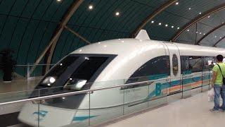 preview picture of video 'Shanghai Maglev / Transrapid Train Ride / Airport - City - Airport'