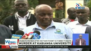 Kabianga students protest after 2nd year student is stabbed to death