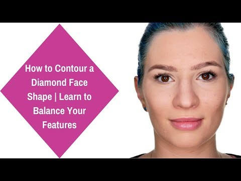 How to Contour a Diamond Face Shape | Learn to Balance Your Features | Youtube 2017