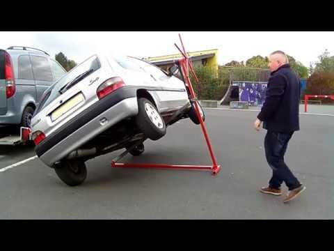 DIY mobile Hebebühne Kipplift PKW, vehicle hoist car lifter, автомобильный подъёмник