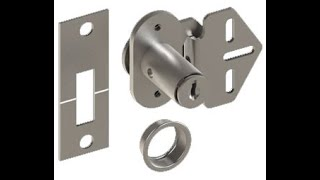 Hager 9264 US3 A Door Lock for Bi Fold Applications Keyed Alike   Polished Brass
