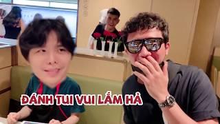 "(한) Hari Trấn Thành bất ngờ ""TÁN"" Trịnh Thăng Bình và phản ứng không đỡ nổi 하리 쩐탄의 기습 싸닥션 그리고 찐탕빈 반응"