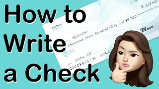 How to WRITE A CHECK   The Right Way to Write Dollars & Cents