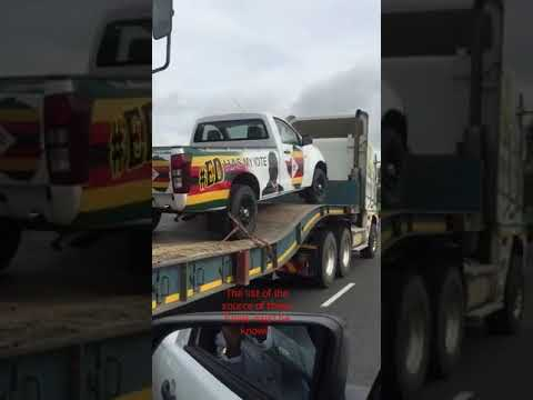 WATCH: ZANU PF campaign vehicles from South Africa
