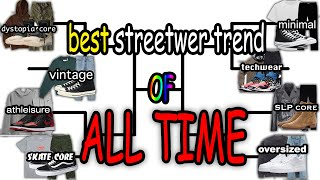 WHAT WAS THE BEST STREETWEAR TREND OF ALL TIME?