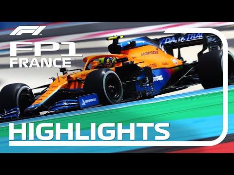 F1第7戦フランスGP(ル・キャステレ)のFP1ハイライト動画