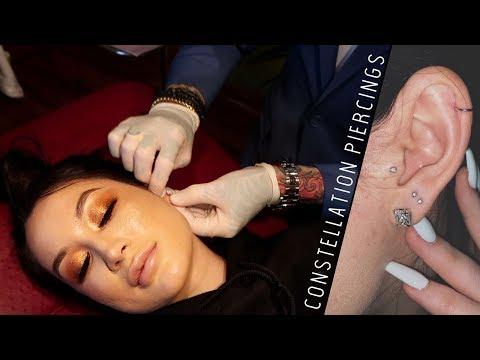 Getting CONSTELLATION piercings!!!! | cassieeMUA
