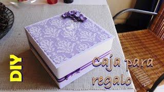 Caja regalo para el día de la madre de cartón MUY fácil
