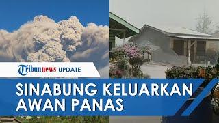 Sinabung Keluarkan Material Vulkanik, Wilayah Tiganderket Dilanda Hujan Abu Pekat