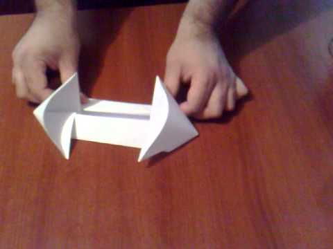 how to make an alien warship-origami