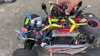 FPV drone chase RC car