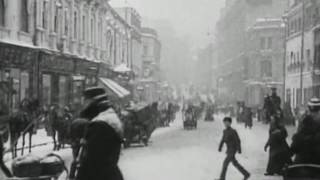 Зимой на улице  Кузнецкий мост, 1908 г. Москва.