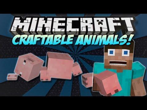 Minecraft | CRAFTABLE ANIMALS & MOBS MOD! | Craft the ENDER DRAGON! [1.4.7]