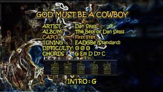 God Must Be A Cowboy Chords and Lyrics