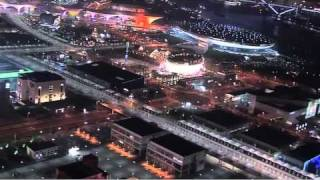 Video : China : ShangHai World Expo night-time flyover - video