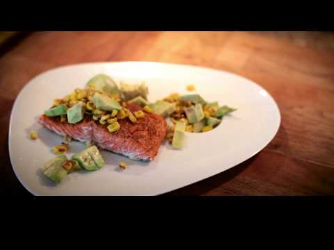Baked Salmon with Corn Relish