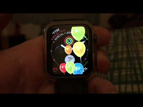 Apple Watch Series 4 - Happy Birthday Animation - Party Balloons!!