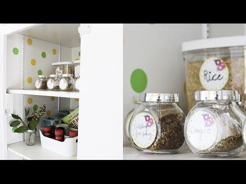 Como Organizar la Alacena de Tu Cocina. Etiquetas Gratis para Tus Recipientes! | Live Colorful