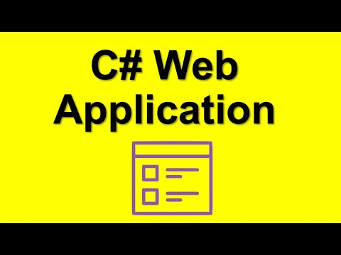 C# Web Application Create your first web app in C# with ASP.NET MVC
