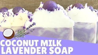 Making Lavender And Coconut Soap With Real Coconut Milk | GYPSYFAE CREATIONS