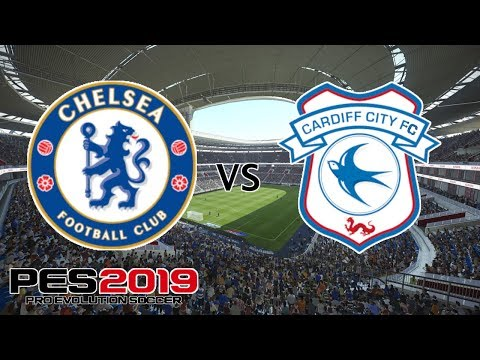Chelsea vs Cardiff City - Premier League 2018/19 Season - Amazing Hazard Goal!! - PES 2019